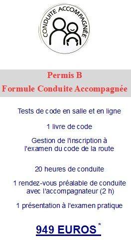 Formule Conduite accompagnée page accueil