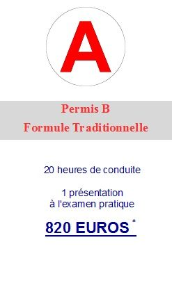 Formule traditionnelle sans code accueil