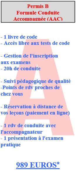 Affiche Permis B AAC avec code BVM